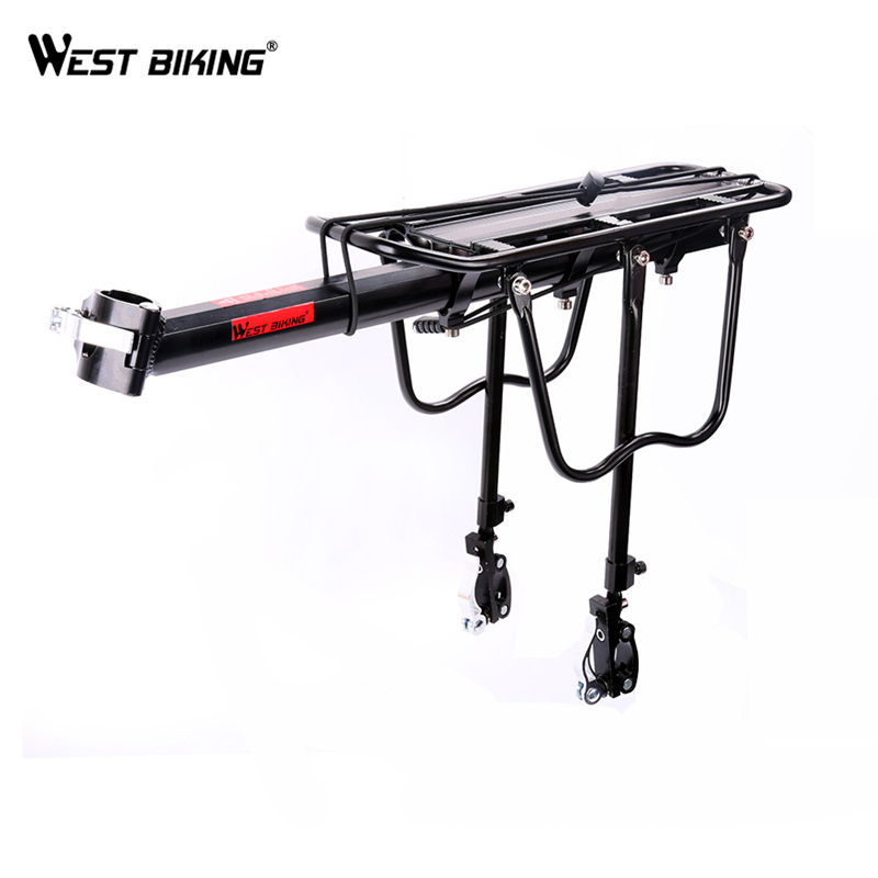 WEST BIKING 1Set Universal Cargo Racks 50kg Max Loading Capacity Cycling Rear Seat Luggage Rack Mountain Bike for Bicycle Saddle auxmart universal car roof rack cross bar 90 120cm with anti theft lock auto roof boxes racks bike load cargo carrier luggage