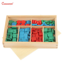 Stamp Games With Box Montessori Materials for Home School Math Toys Teaching Aids Beech Numbers Wooden MA062-JZ3