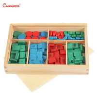 Stamp Games With Box Montessori Materials for Home School Math Toys Teaching Aids Beech Numbers Math Toys Wooden MA062 JZ3