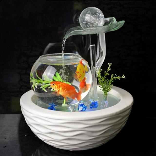 Keramik Kreis Dekoration Wohnzimmer Moderne Einfache Platzierung Glücklich  Büro Desktop Aquarium Brunnen Rad Hochzeitsgeschenke PQ003