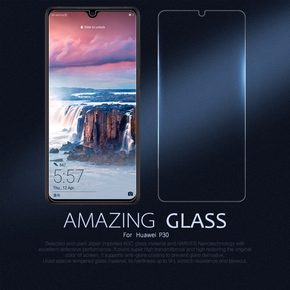 Safety Glass for Huawei P30 Nillkin 2.5D Screen Protector protective glass film for Huawei P30 with Retail PackageSafety Glass for Huawei P30 Nillkin 2.5D Screen Protector protective glass film for Huawei P30 with Retail Package