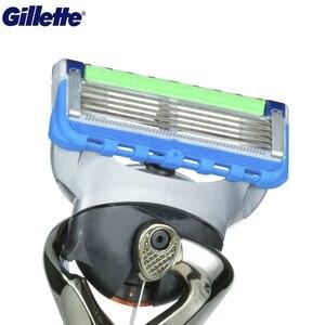Image 5 - Gillette ProGlide Potenza Rasoio da Uomo Nero Maniglia + 1 Lama di Ricarica Fusion5 Con FlexBall Tecnologia Con 5 Anti attrito Lame