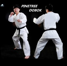 Pine tree Traditional Karate Uniform kids men women white student Taekwondo dobok Sport style suite pants V-neck jacket Uniform