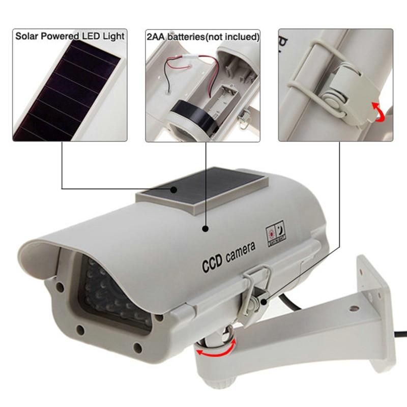 Solar Powered /AA battery CCTV Dummy Camera Fake CCTV Security Camera Flashing LED Surveillance Wholesale Dropping