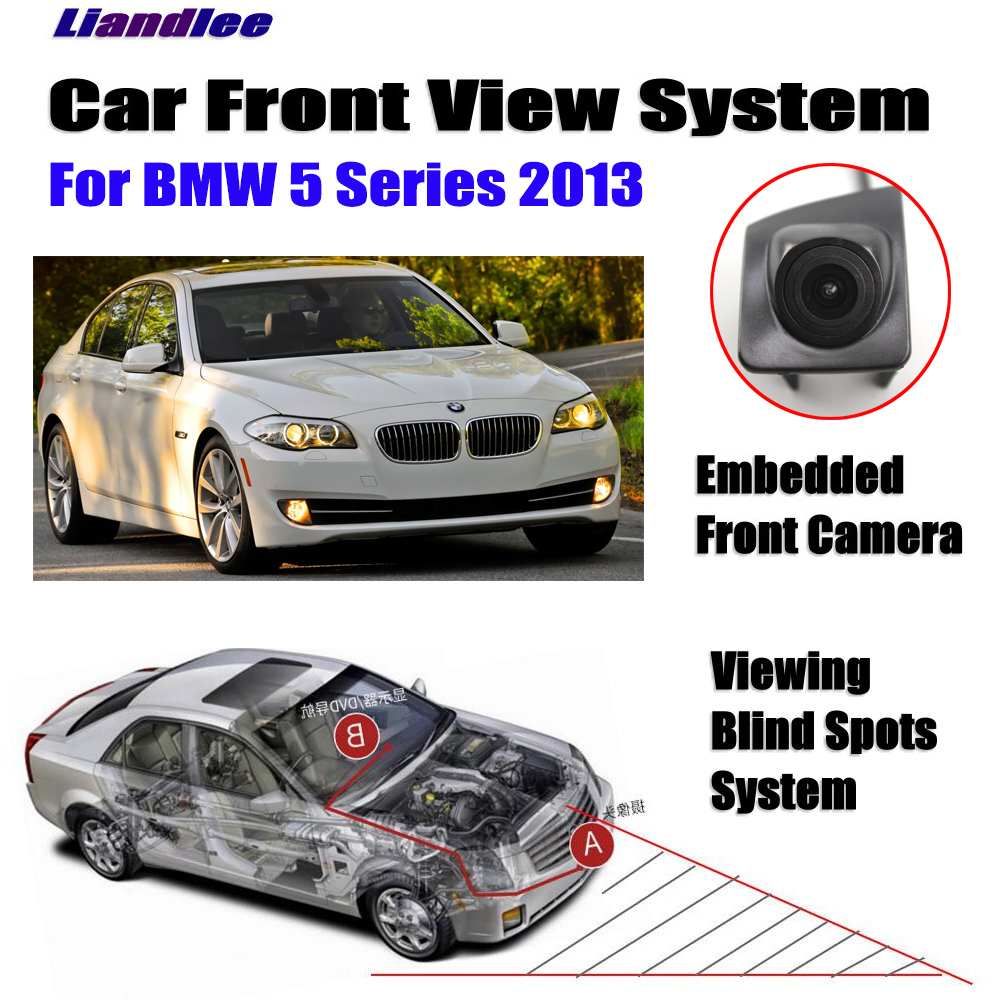 Купить с кэшбэком Liandlee AUTO CAM  Front View Camera For BMW 5 Series 2013 Logo Embedded ( Not Reverse Rear Parking Camera )