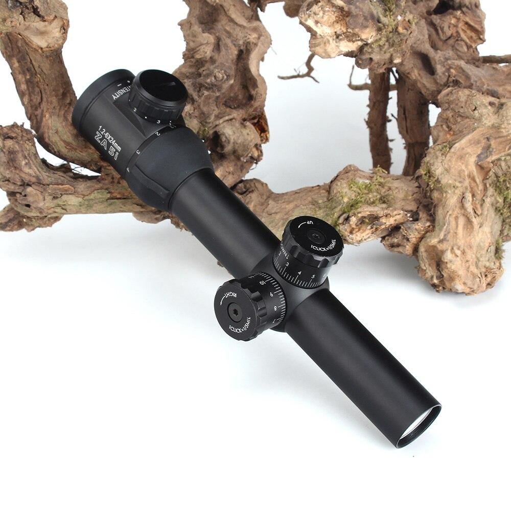 MINOX ZA 5i HD 1,2-6X24 E IR Jagd Umfang Glas Geätzt Absehen Tactical Zielfernrohr Sniper Optische sehenswürdigkeiten für Airsoft Gewehr AK47