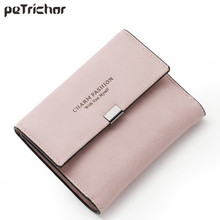 New Korean Style Female Card Holder Wallets Photo Short Fashion Letter Money Hasp Purse PU Leather Simple Lady Bags Gifts