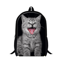 child school bags primary animal design cat 3D print school backpack,bookbags for boys,girls mochila,cute day pack for students