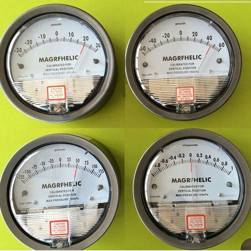 +/-2000pa High precision Digital Analog Manometer gas industry air negative pressure meter Professional table pressure gauge professional digital economic manometer 15 000psi gauge