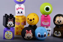 4PCS  Novelty Fun  Doll Ball  noice maker  Squeeze Stress Reliever Venting Ball and blocksToy