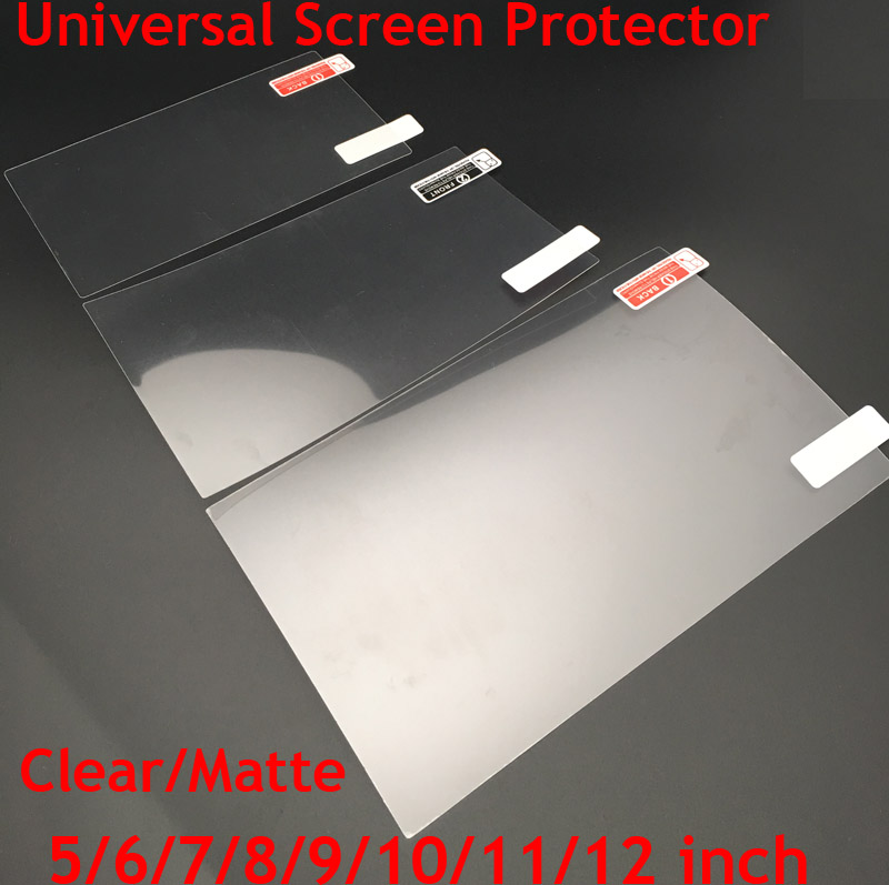 3pcs Universal 5/6/7/8/9/10/11/12inch Screen Protectors Clear or Matte Protective Film for Mobile Phone/Tablet/Car GPS LCD/MP3 4