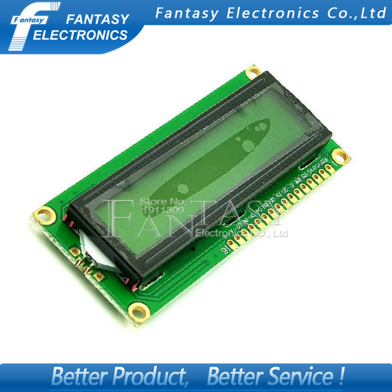 1pcs lcd 1602 yellow screen Character LCD Display Module Blacklight New and Black code new Free shipping