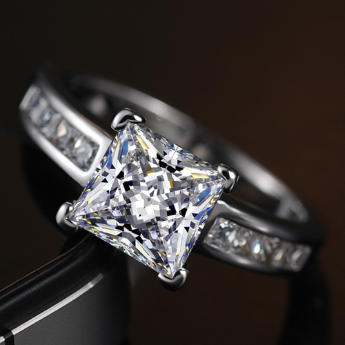 square drill 2 sona ring married promise ring