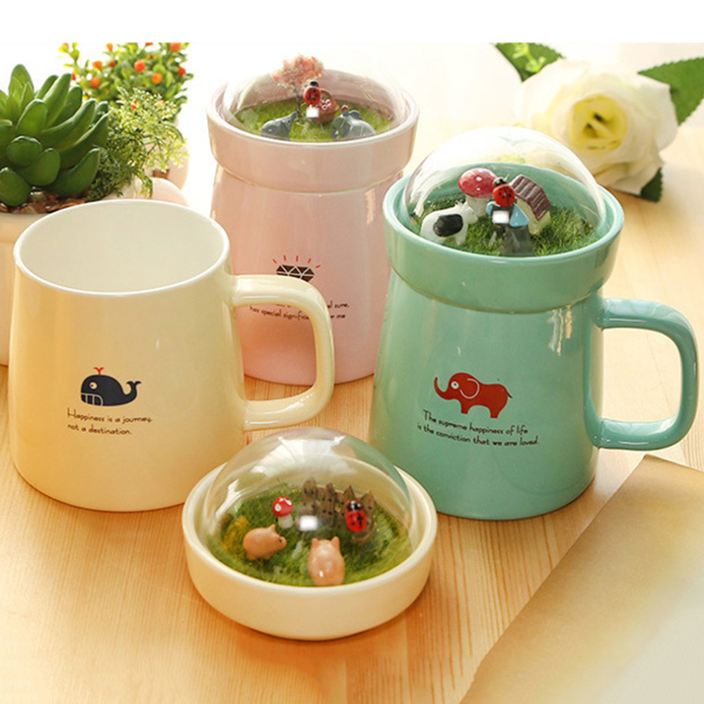 Hot sale 3 colors micro landscape ceramic mugs lovely big for Mug isotherme micro ondable