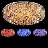 Modern LED color crystal lamps living room lamp ceiling lighting simple atmosphere bedroom restaurant lamps led lighting fixture