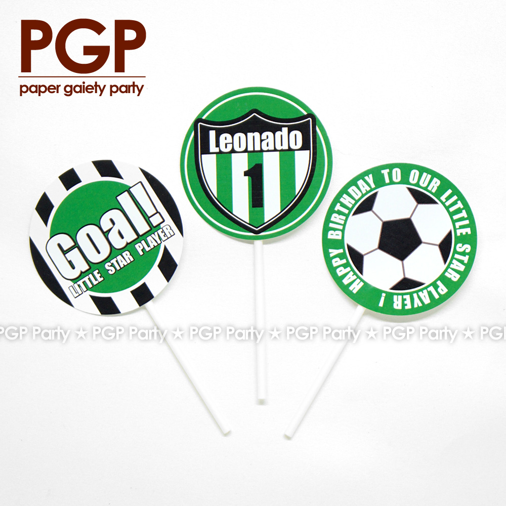 [PGP] Football Party set, Cake Cup Topper World League One boy 1st 2nd 3rd Birthday UEFA Championship Serie A Bundesliga FIFAs