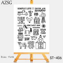 AZSG Comfortable Simple Rural Life Clear Stamps For DIY Scrapbooking/Card Making/Album Decorative Silicone Stamp Crafts