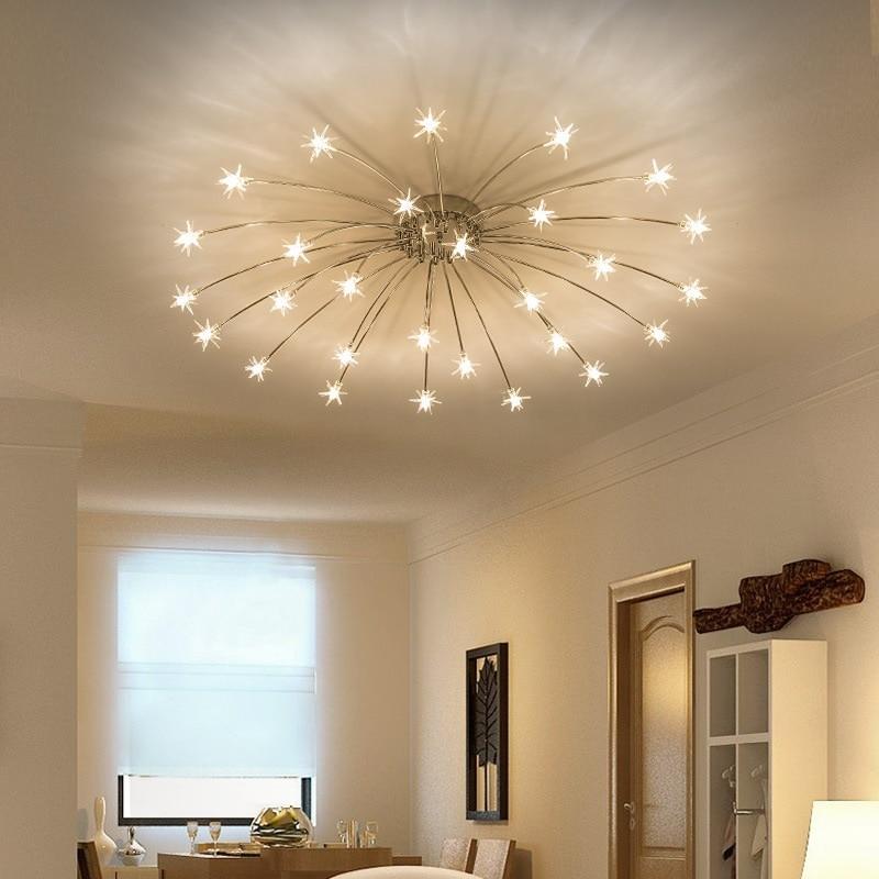 US $72 0 25% OFF|Modern Led Ceiling Lights Ice Flower Glass Bedroom Kitchen  Children Room Ceiling Lamps Designer Lighting Fixtures-in Ceiling Lights