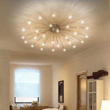 Luces de techo led modernas de cristal con diseño de flor de hielo para dormitorio, cocina, habitación de niños, lámparas de techo, accesorios de iluminación de diseño