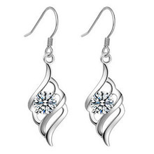 2014 new Angel Wing Earring,925 Sterling Silver Material,Fine jewelry Genuine SWA Elements free shispping(China)