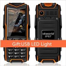 """Regalo libre Rusia Original VKWorld Piedra V3 IP67 Teléfono Impermeable a prueba de Choques 2.4 """"Dual Sim 5200 mAh Batería GSM teléfono"""