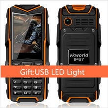 Free Gift Russia Original VKWorld Stone V3 IP67 Waterproof Phone Dustproof Shockproof 2.4'' Dual Sim 5200mAh Battery GSM Phone