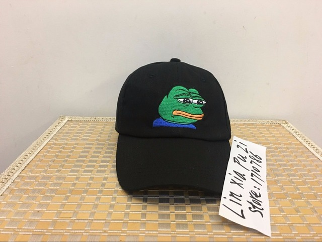 eea1438ab0136 SAD KERMIT TEA Hat Pepe the sad meme frog Twitter famous dank meme hat  (slide buckle) none of my business emoji king lebron jame