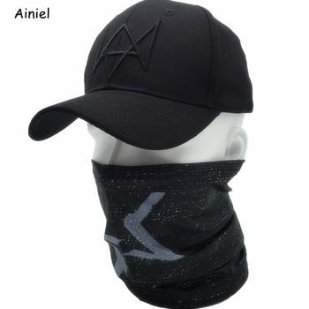 2 sztuk zestaw Watch Dogs Aiden czapka z maską na twarz bawełniany kapelusz zestaw Cosplay kostiumy maska kapelusz mężczyźni 6 Panel czapki baseballowe Unisex czapki sportowe tanie i dobre opinie Dla dorosłych Maski Superhero Sci-Fi Costumes Poliester Cotton Polyster