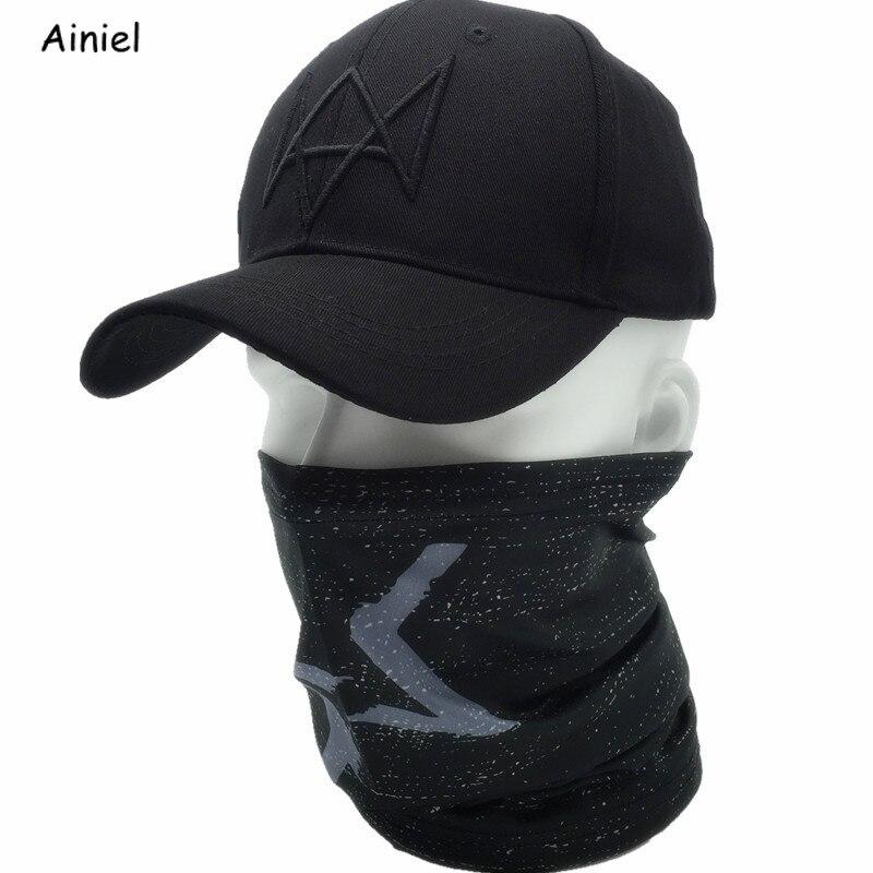 Bescheiden 2 Teile/los Uhr Hunde Aiden Gesicht Maske Kappe Baumwolle Hut Set Cosplay Kostüme Maske Hut Männer 6 Panel Baseball Caps Unisex Sport Hüte