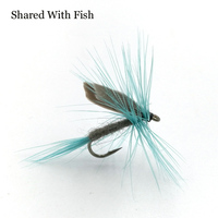Shared With Fish 5pcs/lot 10# Wet Fly Blue Dull / Black Quill Trout Fishing May Flies