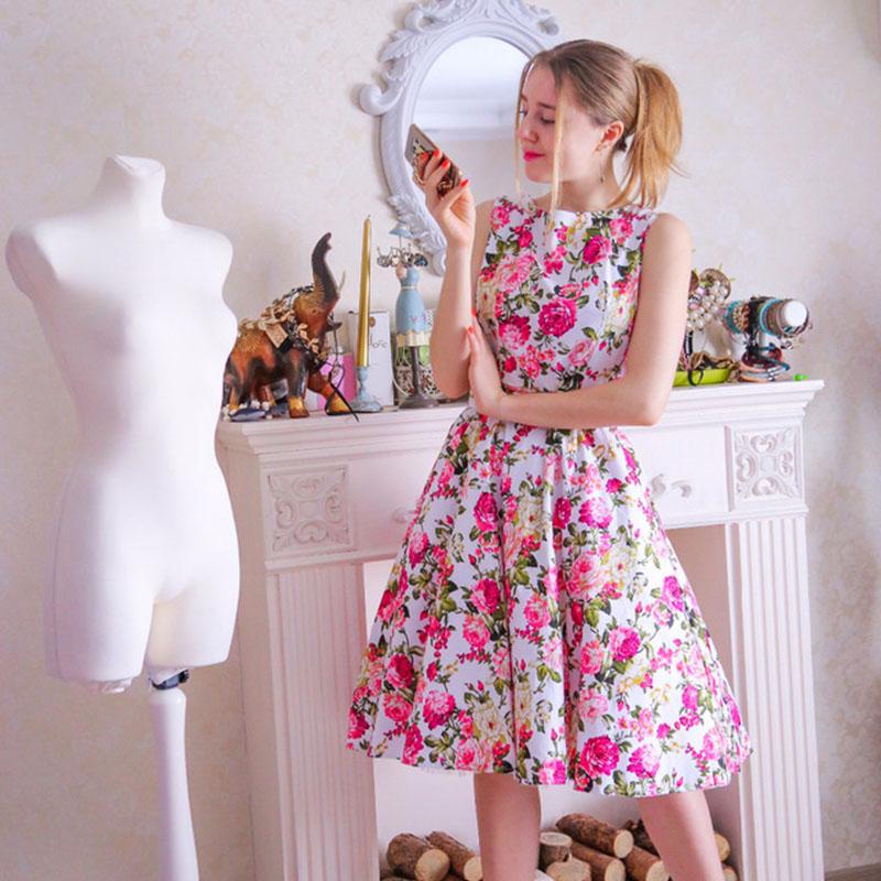 Sisjuly vintage vestidos 2018 para las mujeres verano impresión ...