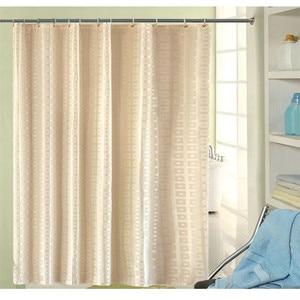 Image 2 - XYZLS Modern duş perdesi su geçirmez küf geçirmez Polyester banyo perdesi kare ızgara banyo perdeleri kanca ile