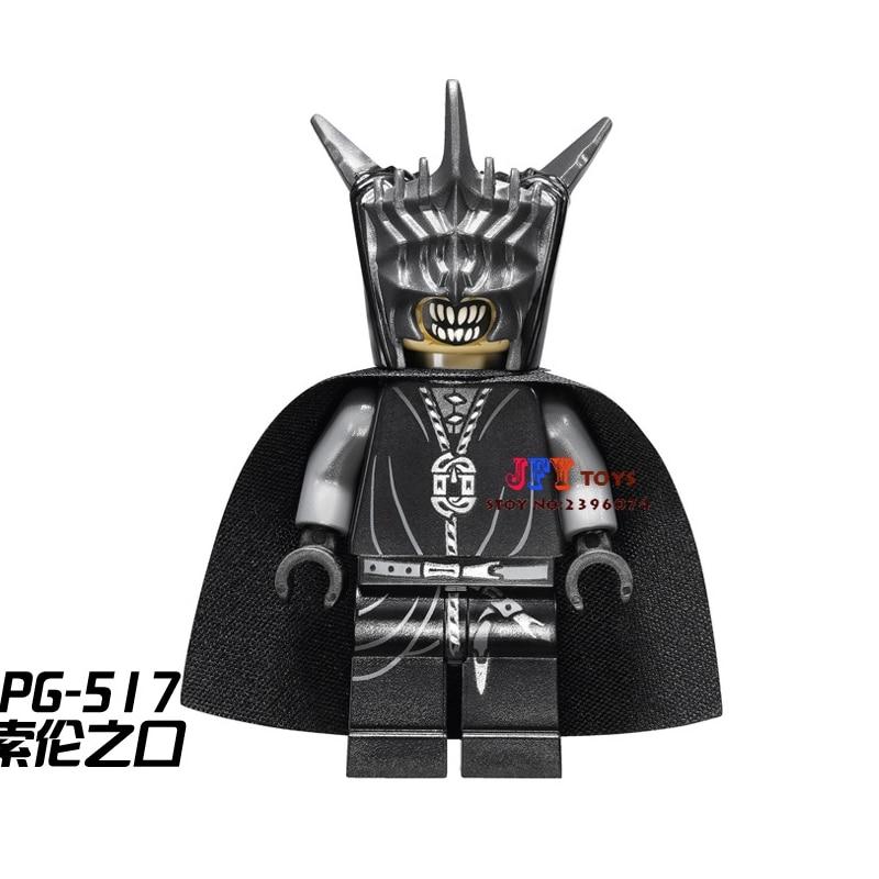 Single Sale  Superhero  Mouth Of Sauron LOTR Building Blocks Model Bricks Toys For Children Brinquedos Menino