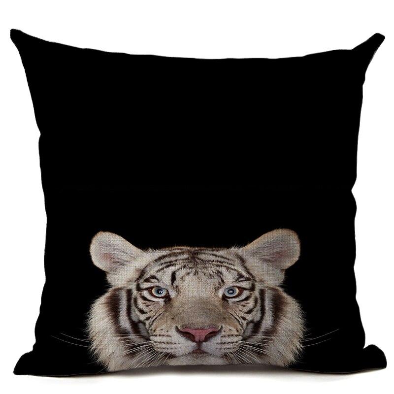 Orginal Tiger Heyvanı Çap olunmuş Kətan Yastığı Avtomobil - Ev tekstil - Fotoqrafiya 4