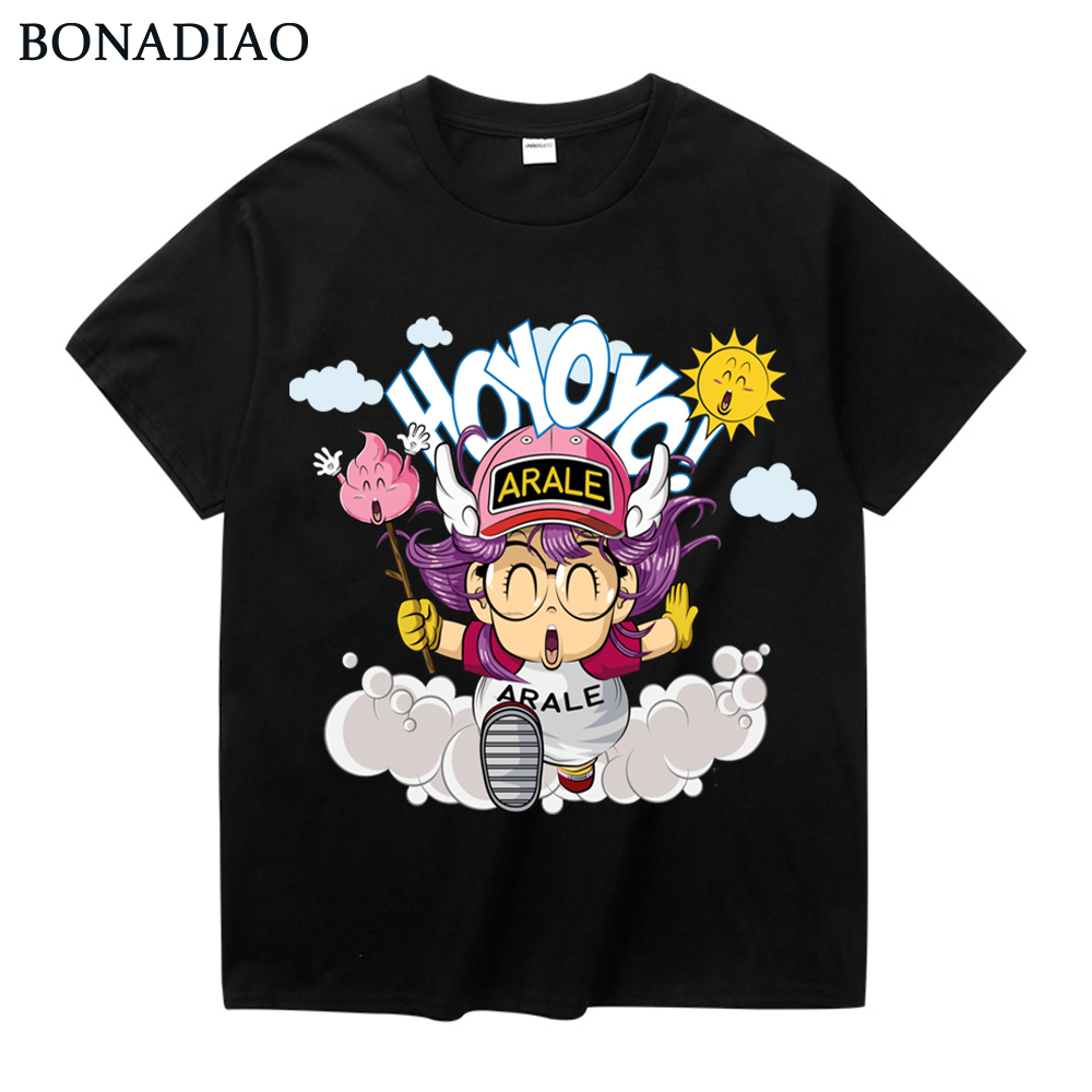 Classic Anime Dr. Slump Arale   T     Shirt   Unisex Popular Cartoon Cotton Tee   Shirt