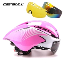 Cairbull Cycling Helmet With Goggles MTB Road Bike Bicycle Helmets Ciclismo Lens Safe Men Women Cycling Lens Glasses Helmet