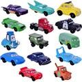 Disney Pixar Cars figuras Mini PVC Action Figure Modelo Brinquedos Bonecas Classic Toys 2 cm 14 pçs/set Frete Grátis