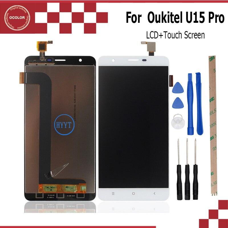 imágenes para Para Oukitel U15 Pro Pantalla LCD y Montaje de la Pantalla Táctil reparación Parte 5.5 pulgadas Accesorios Móviles Para Oukitel U15 Pro + herramientas