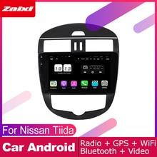 ZaiXi 2 DIN Auto Player GPS Navi Navigation For Nissan Tiida C12 Pulsar 2011~2019 Car Android Multimedia System Screen Radio