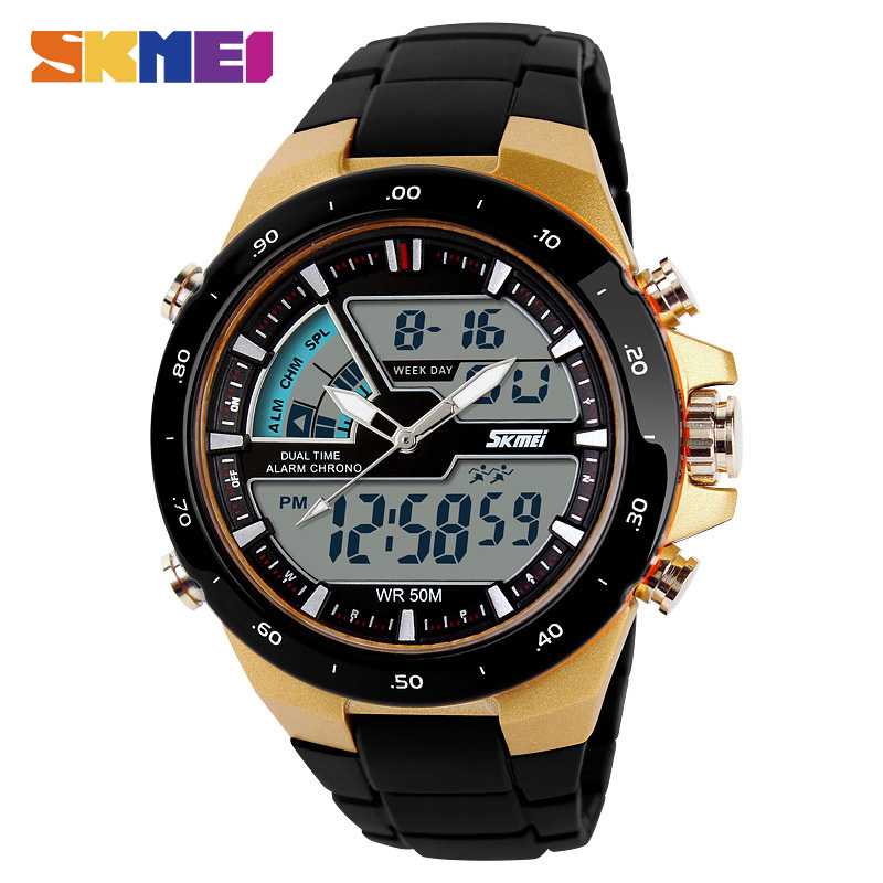 SKMEI Men Digital Quartz Wristwatch Dual Time Zone Waterproof LED Fashion Clocks Fashion Brand Outdoor Sports Watches 1016