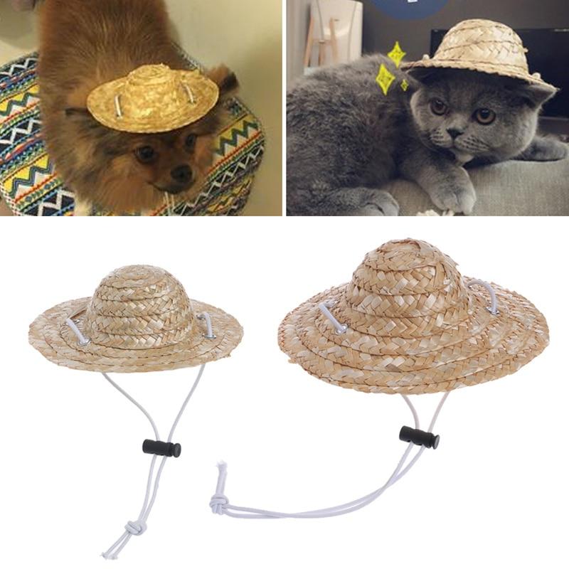 Hawaiian Style Pet Sombrero Hat Dog Cat Hat Diameter 16cm