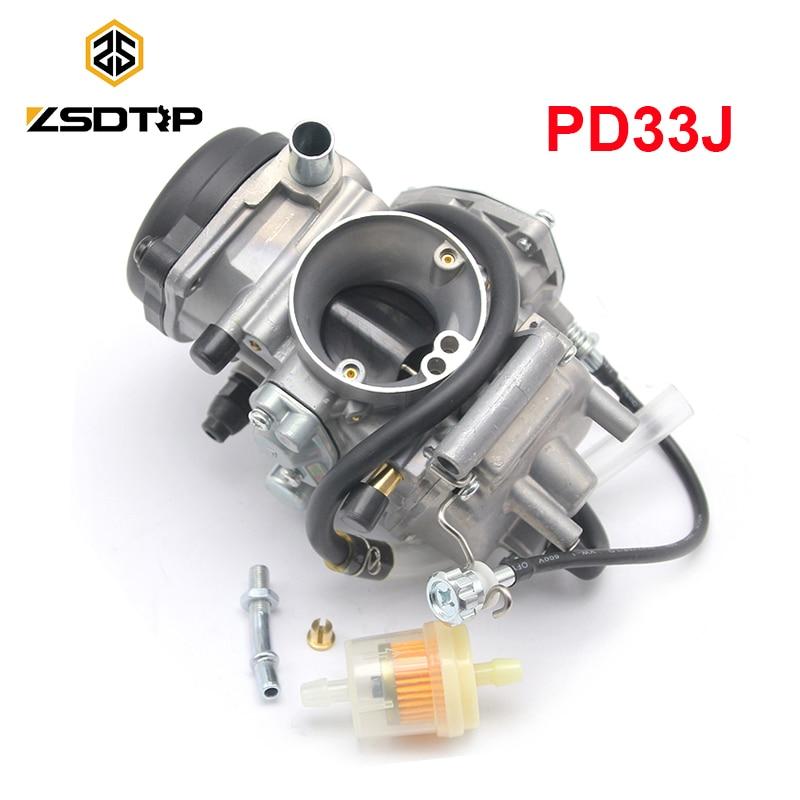 ZSDTRP PD33J 33mm Carburetor 400cc for Wolverine 350 YFM350 YFM400 Baja Wilderness BIG BEAR 400 2x4