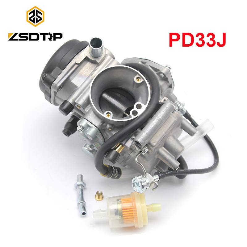 ZSDTRP PD33J 33mm Carburetor 400cc for Wolverine 350 YFM350 YFM400 Baja Wilderness BIG BEAR 400 2x4 4x4 YFM400 2000 2012-in Carburetor from Automobiles & Motorcycles    1