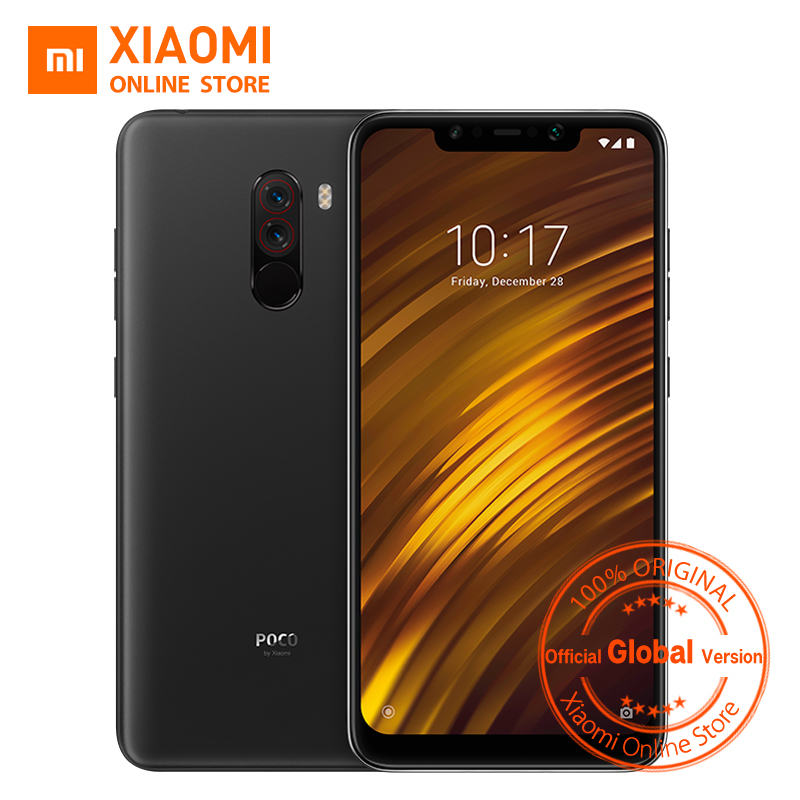 Global Version Xiaomi POCOPHONE F1 POCO F1 6GB 64GB Snapdragon 845 6.18 Full Screen AI Dual Camera 4000mAh Smartphone reflection
