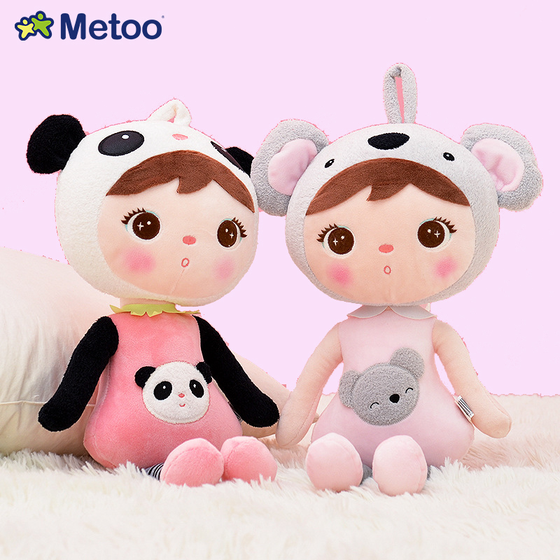 Metoo Keppel 2 Colors 45x18cm Plush Pendent Doll Car Decoration Sweet Stuffed Baby Kids Toys Girls Birthday Cute Christmas Gift metoo owl doll plush toys soft cloth dolls home decoration cute warm stuffed toy kids children birthday gift sofa car decor