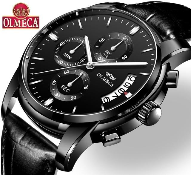 d7dc2a0a7dd OLMECA Relógio Militar Relogio masculino Relógios Moda Relógio de Pulso  Cronógrafo Relógios para Homens À Prova