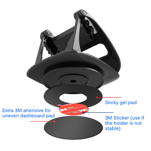 Image 4 - Phone Car Dashboard Holder 360 Rotate Non Slip Sticky Gel Pad Washable Car Mount Bracket For iPhone XS Max Samsung S10 Note9 GPS