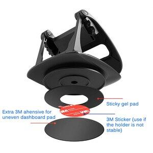 Image 4 - Soporte para tablero de automóvil para teléfono, soporte de Gel adhesivo antideslizante giratorio 360, soporte de montaje lavable para automóvil para iPhone XS Max Samsung S10 Note9 GPS