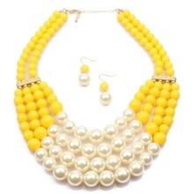 Multi Layers African Beads Jewelry Set