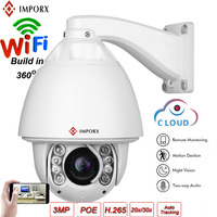 IMPORX PTZ IP Camera Outdoor Wifi Security Camera 3MP 1080P HD 20X/30X Optical Zoom P2P Onvif IR 150M Infrared Night Camera POE
